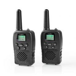 Nedis WLTK1000BK - Vysílačka | Dosah 10 km | 8 Kanálů | VOX | Dobíjecí Baterie | 2 Kusy | Černá