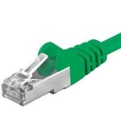 Premiumcord Patch kabel CAT6a S-FTP, RJ45-RJ45, AWG 26/7 0,5m,  zelená