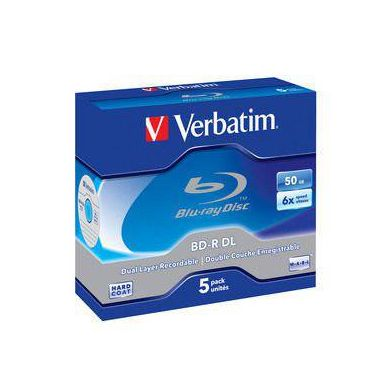 Verbatim BD-R DL, 50GB, 6x, 5ks, jewel case