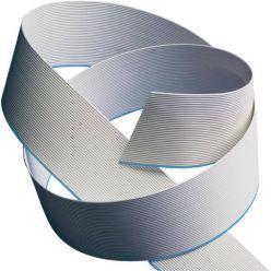 PremiumCord plochý kabel, 40 žil, 1m