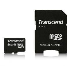 Transcend 64GB microSDXC karta, UHS-I U1 + adaptér