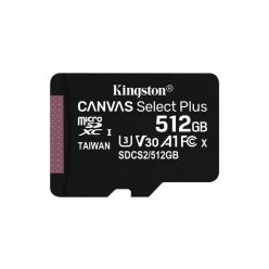 Kingston Canvas Select Plus 512GB microSDXC karta, UHS-I U3, A1, 100R/85W