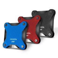 ADATA SD600Q 480GB, externí SSD, USB 3.0, červený