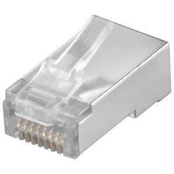 Konektor RJ45 kat.5e stíněný, na plochý kabel (lanko)