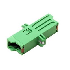 Optická spojka E2000, simplex, zelená