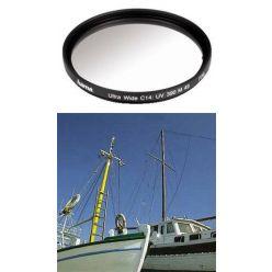 Hama filtr UV 390/0-HAZE Ultra Wide 3mm, M49, C14 zušlechtění, černý