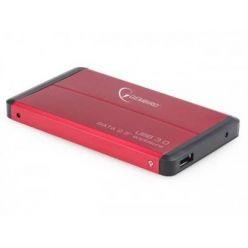 """GEMBIRD externí box pro 2.5"""" HDD, USB 3.0, červený"""