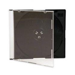 Plastový CD Slim box pro 1 CD, černý