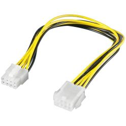 Goobay prodlužovací P4 (8 pinů) napájecí kabel, 20 cm