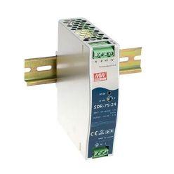 MEANWELL • SDR-75-24 • Průmyslový napájecí spínaný zdroj 24V 75W na DIN