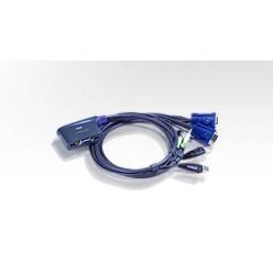 ATEN KVM switch CS-62US USB 2PC mini , audio support, 0,9m