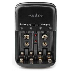 NEDIS nabíječka Ni-MH baterií AA/AAA/9V, černá