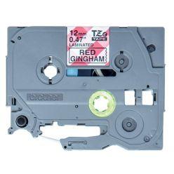 Brother - TZE-MPRG31 páska s červenými kachličkami / černá (12mm, 4m)