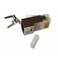 Konektor RJ45 8/8 50u drát/licna kulatá FTP CAT6A pro vodič 1,5mm, 1ks