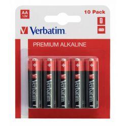 Verbatim AA alkalické baterie, 1.5V, 10ks, blister