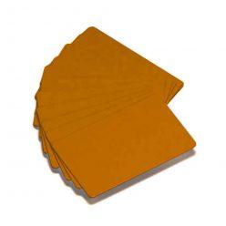 Karta Zebra PVC karty, balení 500ks karet na potisk, zlatá barva