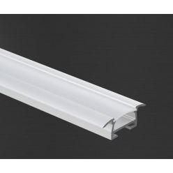 Hliníkový profil Prowax TAKO anodizovaný, bez difuzoru - 1m