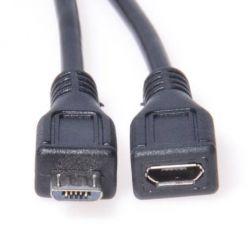 PremiumCord prodlužovací micro USB 2.0 kabel, 2m, černý