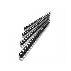Plastový hřbet 14mm, černý, 100ks