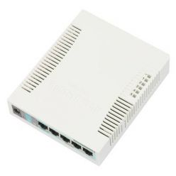 MikroTik RB260GSP, 5-port Gigabit smart switch with SFP cage, SwOS, plastic case, PSU, POE-OUT