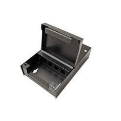 Rozvodný box pro keystone moduly, 4 porty, neosazený, černý