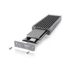 IcyBox externí USB-C box pro M.2 NVMe SSD, USB 3.1 Gen 2, šedý