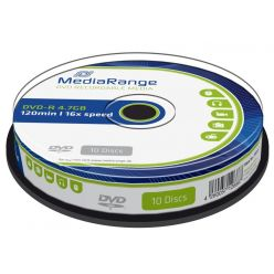 MEDIARANGE DVD-R 4.7GB, 16x, 10ks, spindl