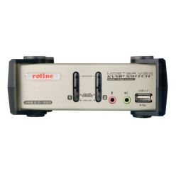 Přepínač počítačů 2:1 (USB+PS/2 Klávesnice a Myš, VGA, Audio)