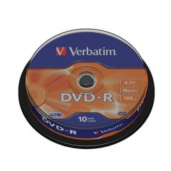 Verbatim DVD-R Matt Silver, 4.7GB, 16x, 10ks, spindle