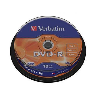 Verbatim DVD-R Matt Silver, 4.7GB, 16x, 10ks, spindle