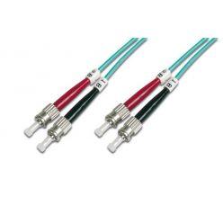 Digitus Fiber Optic Patch, ST to ST,Multimode 50/125 µ, Duplex, 1m, Class OM3