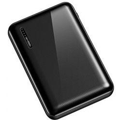 USAMS US-CD104 Dual USB Power Bank 5000mAh Black