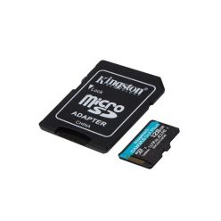 Kingston Canvas Go! Plus 128GB microSDXC karta, UHS-I V30 A2, 170R/100W + adaptér