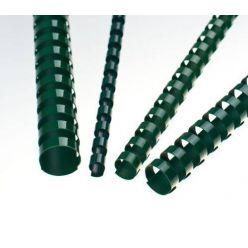 Plastové hřbety 8 mm, zelené