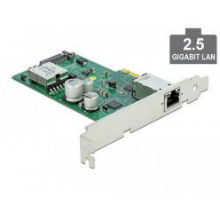 Delock 2.5Gbit síťová karta, 1x RJ-45, podpora PoE, LP, PCIe