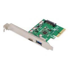 Digitus USB 3.1 řadič, 1x USB-A, 1x USB-C, PCIe