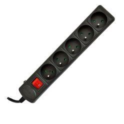 Akyga Prodlužovací kabel s 5 zásuvkami 1.8m 5outlets CEE7/5 s vypínačem