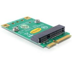 Delock redukce z Mini PCI Express half-size -> full-size