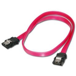 PremiumCord SATA II kabel, 1m, s kovovou západkou