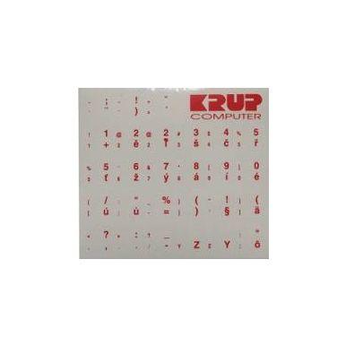 Přelepky na klávesnici - červené CZ