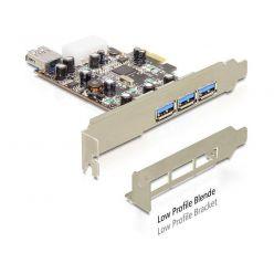 DeLock USB 3.0 řadič, 3x externí + 1x interní port, VIA, LP, PCIe