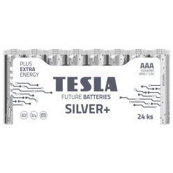 Tesla AAA SILVER+ alkalická, 24 ks fólie, ND