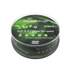 MediaRange DVD-R disky, 4.7GB, 16x, 25ks, spindl