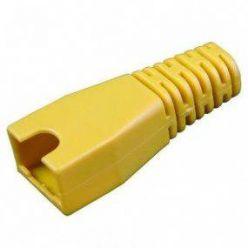 Krytka konektoru RJ45 na kulatý kabel, s výřezem,  1ks, žlutá