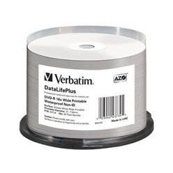 Verbatim DVD-R Wide Printable, 4.7GB, voděodolný, no ID, 16x, 50ks, spindle