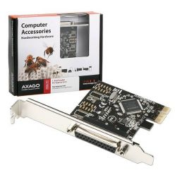 AXAGO PCEA-P1 PCI-Express adapter 1x paralel port