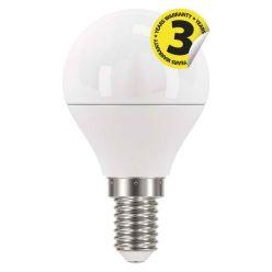 Emos LED žárovka MINI GLOBE, 6W/40W E14, WW teplá bílá, 470 lm, Classic A+