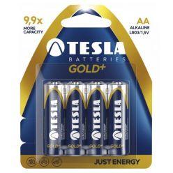 Tesla AA GOLD+ alkalická, 4 ks