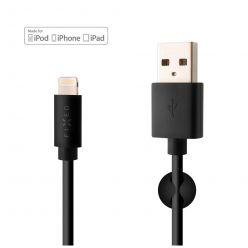 FIXED datový a nabíjecí kabel Lightning, MFI, 2.4A, 1m, černý