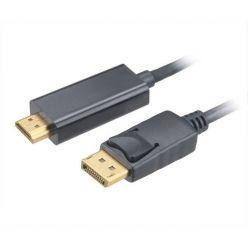 AKASA kabel DipIayPort 1.2 -> HDMI 2.0, 4K@60Hz, 1.8m, černý